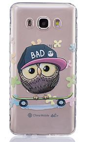 owl pattern pintado caso de material TPU telefone para Galaxy j1 / j1ace / J120 / J2 / J3 / J5 / J510 / J7 / G360 / G530 / G850