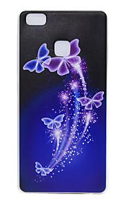 TPU transparante dunne vlinder voor Huawei p9 / p9 lite