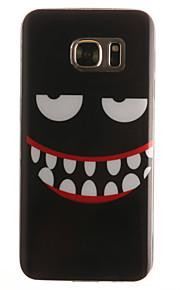 caso de telefone preto Smiley material padrão IMD TPU + para Galaxy S3 / s3mini / S4 / s4mini / S5 / s5mini / S6 / S6 edge / S7 / S7 borda