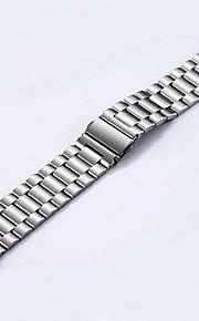 arco duplo 42 milímetros pelo aço inoxidável relógio banda de metal sólido dedução de seguro para o relógio de maçã