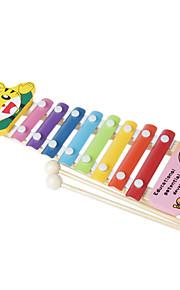 madeira amarela mão da criança bater piano para crianças todos os instrumentos musicais de brinquedo entrega aleatória
