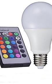 10W E26/E27 LED-globepærer A60(A19) 1 Høyeffekts-LED 700-850 lm RGB Fjernstyrt AC 85-265 V 1 stk.
