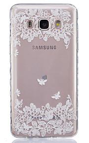 duas borboletas pattern pintado Material da Caixa TPU telefone para Galaxy j1 / j1ace / J120 / J2 / J3 / J5 / J510 / J7 / G360 / G530 /