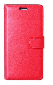 pu lederen tas fotolijst portemonnee cover van het boek voor LG K7 / K10 / G5 / zone 3 Crazy Horse korrel cover met 9 kaartsleuven