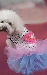 犬用品 ドレス ホワイト 夏 / 春/秋 クラシック / ハート 結婚式 / クリスマス / バレンタインデー / ファッション-Lovoyager