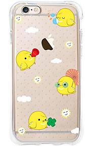 Heldekkende etui Transparent Body Cartoon TPU Myk Airbag AntifallCase Cover ForApple iPhone 6s Plus/6 Plus / iPhone 6s/6