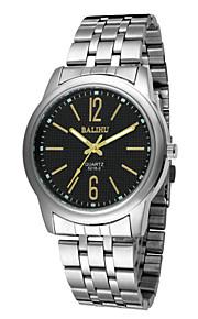 Masculino Assista Quartz Relógio de Moda Relógio Casual Lega Banda Relógio de Pulso Prata