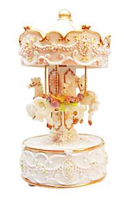 cerâmica de ouro caixa de música romântica criativa para presente