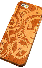 Cherry Wooden Mechanics Gears Carving Protective Back Cover Hard iPhone Case for iPhone SE/iPhone 5S/iPhone 5