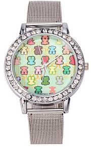 Mulheres Relógio de Moda Quartz Relógio Casual Aço Inoxidável Banda Relógio de Pulso Prata / Dourada