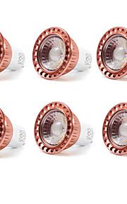 9W GU10 LED-spotpærer MR16 1 COB 700-850 lm Varm hvit / Kjølig hvit Dekorativ AC 85-265 V 6 stk.