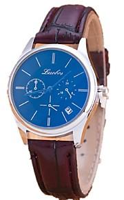 relógio ocasional calendário fita azul retro casuais relógios par do casal relógios para homens e mulheres