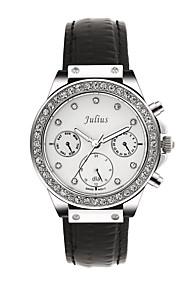 Mulheres Relógio de Moda Quartz Couro Banda Preta / Branco / Prata / Vermelho / Marrom / Dourada marca
