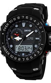 Masculino Assista Quartzo Japonês Relógio Esportivo LCD / Calendário / Impermeável / Dois Fusos Horários / alarme / Luminoso / Cronômetro