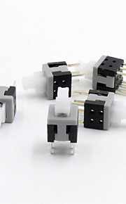 Self Lock 6-Pin Push Tactile Switches (5.8 x 5.8mm / 5-Pack)