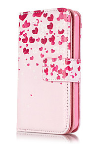 PU Leather Embossed Love Flowers Wallet Case with 9 Card Slots for iPhone SE 5s 5