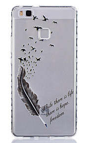 Feather Pattern PU Material Phone Case for Huawei P9 Lite/P9