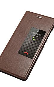 超薄型革は、Huawei社のP9の自動スリープ/スリープ解除機能と答えスマートフリップケースカバーをスライディングウィンドウスタンド