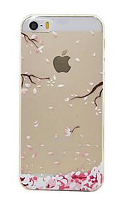 material de TPU cor da flor de ameixa padrão de caixa do telefone macio para o iPhone5 / 5s / SE