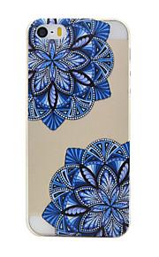 TPU material de cor padrão de flor caso de telefone macio para o iPhone5 / 5s / SE