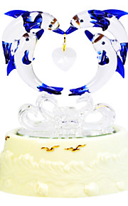 keramik hvid kreativ romantisk musik boks til gave