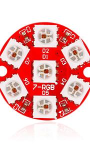 Keyes - 2812-7-5050 full-color LED RGB módulo placa de desenvolvimento circular (vermelho)