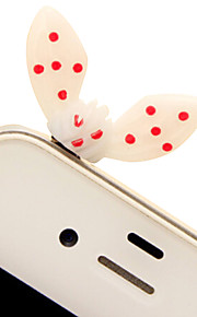9446 Korean Sweet Jelly Rabbit Ears / Small Leaves Bow Dust Plug