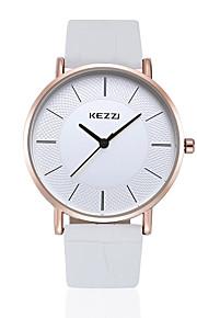 KEZZI Casal Relógio de Moda Relógio Casual Quartzo Quartzo Japonês PU Banda Casual Preta Branco Marrom Branco Preto Marron