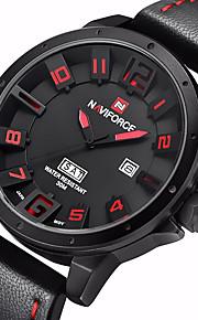 Masculino Relógio Militar Quartzo Japonês Calendário Couro Banda Casual Preta / Cáqui marca