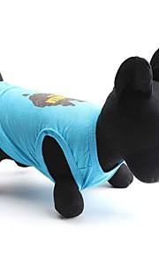 Katter / Hundar T-shirt Blå Sommar Blommig/Botanisk Mode, Dog Clothes / Dog Clothing-Other