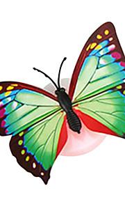 slumpmässiga färg 5pcs / pack fjäril suga natten ljus