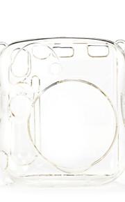 mini 25 øjeblikkelig kamera tilfælde - instax mini 8 transparent tilfældet med kamera skulderrem (brun)
