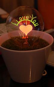 Jag älskar dig krukväxter ledde nattlampa