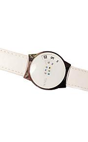 Casal Relógio de Pulso Quartz Relógio Casual PU Banda Preta / Branco marca-