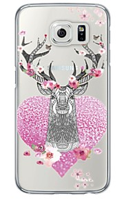 Deer Pattern Soft Ultra-thin TPU Back Cover For Samsung GalaxyS7 edge/S7/S6 edge/S6 edge plus/S6/S5/S4