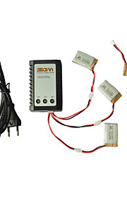 SYMA x5c / x5c-1 opdagelsesrejsende dele x5c-11 3.7v 650mAh LiPo batteri 3 i 1 kabel linje x 5pcs m / b3 oplader