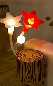 estacas coloridas luz da noite flor