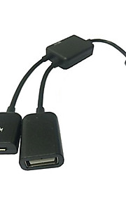 micro usb host OTG kabel& USB Power kostnad for samsung galaxy s3 / s4 / Note3