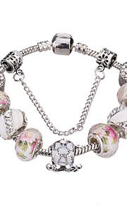 Charm-armbånd / Bangles / Strand Armbånd / Silver Bracelets 1pc,Pudebetræk / Sølv / Hvid / Rød / Blå Armbånd Holdbar / Moderigtig / Yndig