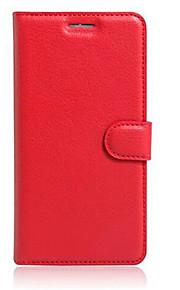 Cuerpo Completo billetera / con el soporte / Dar la vuelta Color Sólido Cuero Sintético SuaveWallet type bracket / flip / mobile phone