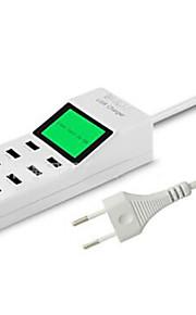 8 porte USB Porte Multi Presa EU caricatore domestico con cavo per iPad / per il cellulare / Per Altro Pad / For iPhone5V , 1A / 2,1A /