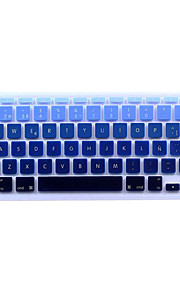 Spanish Language European Version Silicone Keyboard Cover Skin for MacBook Air 11.6/13.3, MacBook Pro 13.3/15.4