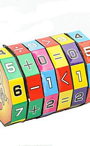 højde puslespil terning børn undervisning læring matematik legetøj til børn 6-lags 7.2cm