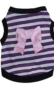 Gatos / Perros Camiseta Rosado / Morado Verano Lazo Moda, Dog Clothes / Dog Clothing-Other