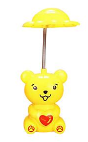 (Color al azar) llevar luz nocturna lámpara creativa de dibujos animados
