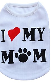Gatos / Perros Camiseta Blanco Verano Flores / Botánica Moda, Dog Clothes / Dog Clothing-Other