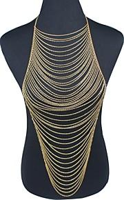 Kropskæde Guldbelagt Frynsetip(s) Gylden Smykker,1pc