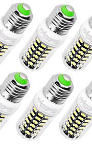 7W E14 / E26/E27 LED-kornpærer T 64 SMD 5733 560 lm Varm hvit / Kjølig hvit Dekorativ AC 220-240 V 6 stk.