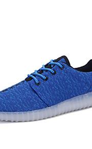 Zapatos de Hombre-Bailarinas-Exterior / Casual-PU-Azul / Negro / Rojo / Gris