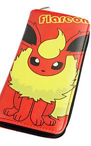 포켓 작은 괴물 flareon 긴 19cm PU 가죽 지갑에서 영감을